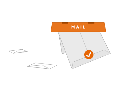 Simple Mail illustration mailbox mail tick