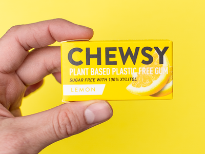 Chewsy Packaging plastic free natural gum gum