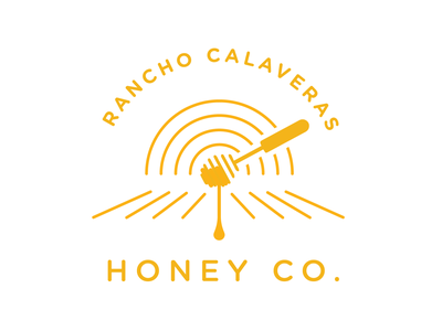 Honey Co Logo food natural sunset field logo branding honey