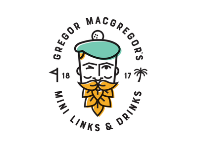 Gregor MacGregor's branding logo golf florida amelia island scottish mini golf