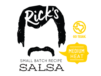 Ricks Salsa hot mustache texas salsa