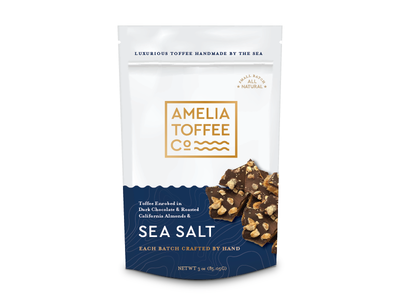 Amelia Toffe all natural packaging branding sweets candy chocolate sea toffee