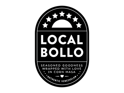 Local Bollo logo branding maza corn local venezuelan