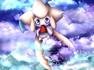 Jirachi digital procreate creature nature illustration pokemon fanart
