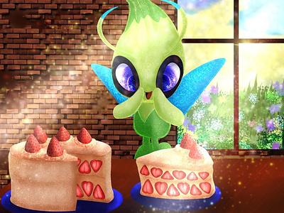 Oh, Cake! digital creature nature 2d fanart illustration