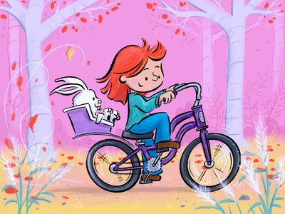 Autumn Bike Ride fun kids bikes autumn illustration childrens book
