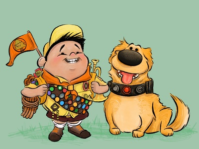 Russell And Dug childrens book illustration humor fun