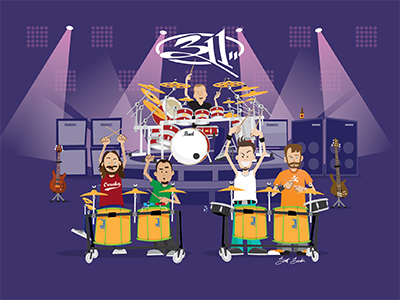 311 Applied Science Art musicians music summer tour 311 scott soeder illustration