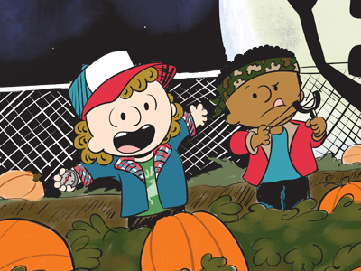 Stranger Peanuts great pumpkin halloween fun peanuts fan art stranger things