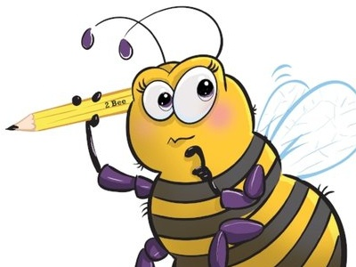 Yellow Spell-o highlights editorial bees humorous fun childrens book illustration