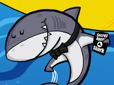 Secret Agent Shark books publishing sharks humorous fun childrens book illustration