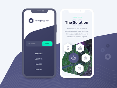 Tartuga AgTech website redesign - mobile web design ux ui tartugaagtech robotics web mobile machine learning automation agtech agriculture