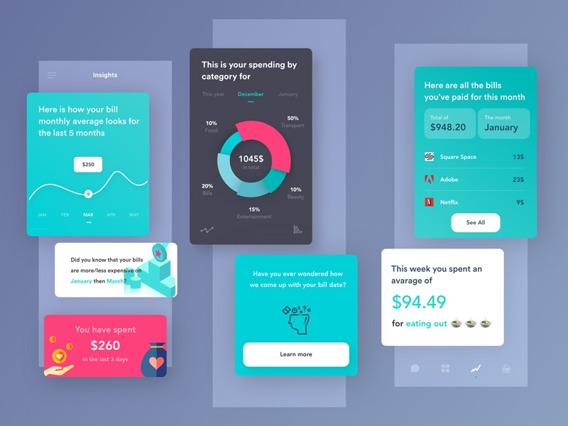 Insights for the financial app ux ui insights finance data app analytics