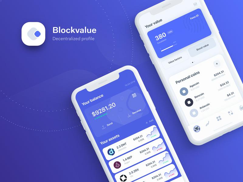 Blockchain decentralised profile app digital id ux ui app decentralized identity crypto blockchain