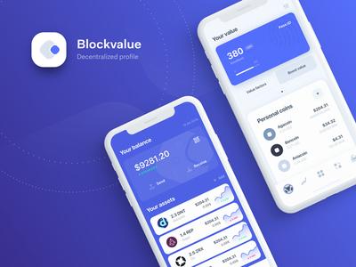 Blockchain decentralised profile app