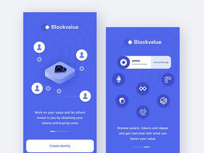 Onboarding Blockchain decentralised profile app ux ui identity id digital decentralized crypto blockchain app