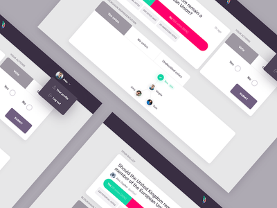 Voting dApp_Democracy_Earth governance platform web dashboard ui ux voting blockchain dapp