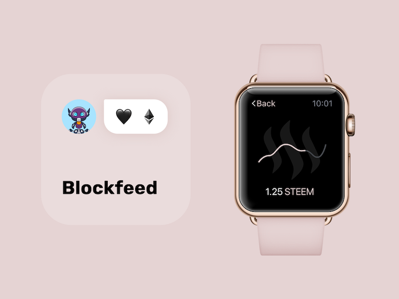 Blockfeed - decentralized engagement and social network apple watch watch ui ux network crypto decentralized engagement social blockchain