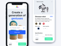 E-commerce store with smart toys