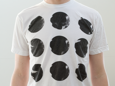 Nine Dots screen printing minimal tshirt teeshirt circle dot