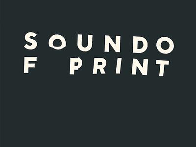 Sound of Print wave scanner mark branding identity logo