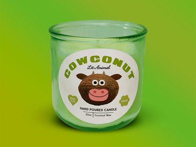 Lit Animal Candles logo design happy animal packaging branding candles candle animals fun character illustration