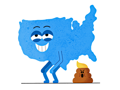 4 Years of Constipation politics poop donaldtrump election 2020 election usa vintage fun character illustration