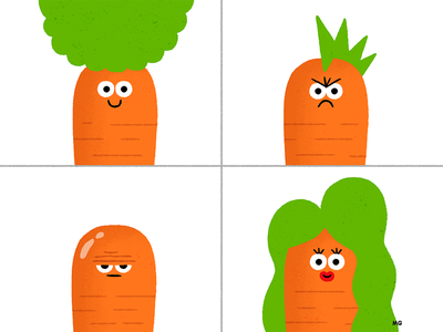 Carrot Hairstyles afro man woman punk emoji mood fun character fashion hairstyle carrot