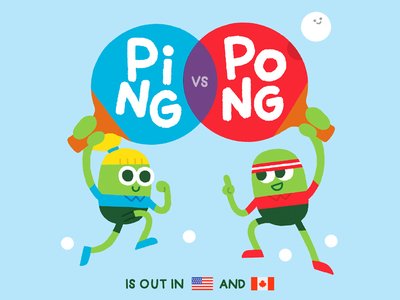 Ping VS Pong ping pong vintage minimal funny fun editorial vegetables beans character sport book