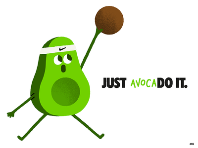 Just AvocaDo It. fun illustration jumpman airjordan jordan nike basketball sport vegan vegetables fruit avocado