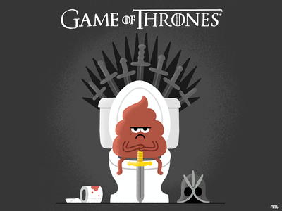 Who's gonna sit on the toilet... ahem... Throne? fanart fan art fun emoji poop character tv series tv show hbo game of thrones got