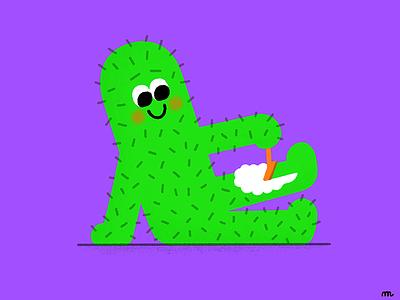 Cactus Epilation epilation shaving cactus cacti plant flower food character fun illustration