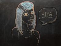 Girlfriend in Chalk
