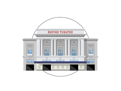 Liverpool - Empire Theatre building geometric tim smith miniature architecture theatre empire liverpool