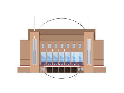 Liverpool - Philharmonic Hall building geometric tim smith miniature architecture hall philharmonic liverpool