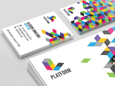 Platform (Branding) platform tim smith branding isometric colours media letterhead stationary my poor brain business card