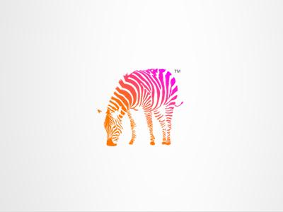 Zebra (Logo) tim smith zebra logo creative orange pink gradient mark charity my poor brain