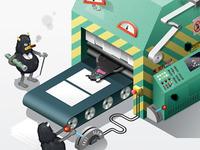 Printing Gremlins (Illustration)
