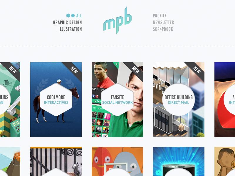 My Poor Brain (Website) tim smith website portfolio graphic design illustration cv profile hexagon circle thumb project grid my poor brain