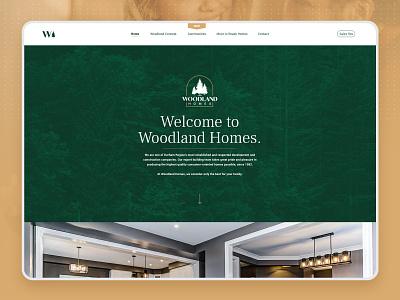 Woodland Homes Website toronto construction company graphicdesign web ux ui branding web design website