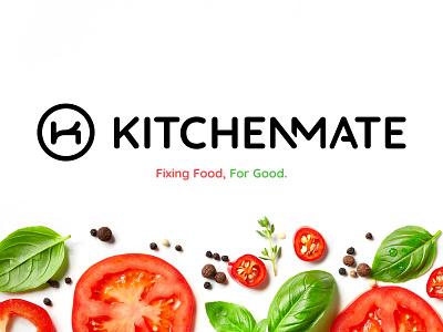 KitchenMate Branding tech food and drink toronto typography logo branding food app cooking food kitchen