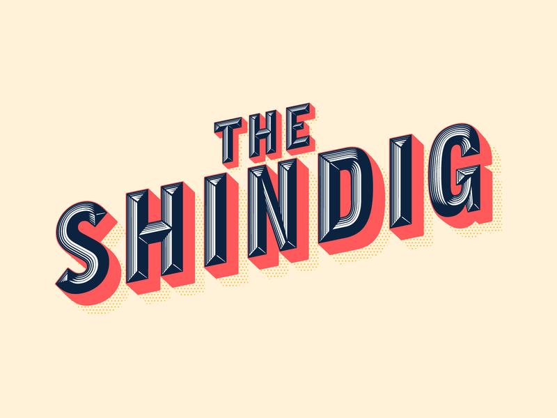 The Shindig lettering design toronto vector illustration typography branding logo