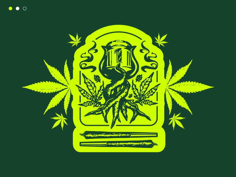 Cannabis Branding green leaf weed icon design toronto vector illustration branding logo brand cannabis
