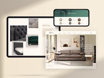 Linea Design Furniture Website couch chair furniture icon design toronto interface web ux ui website webdesign