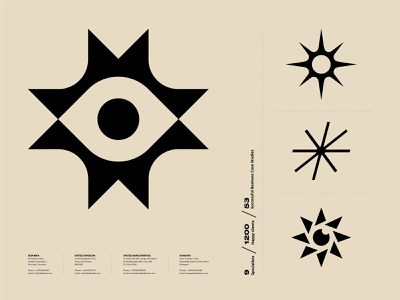 Branding WIP icon toronto vector illustration typography branding eye face reading stars star logo