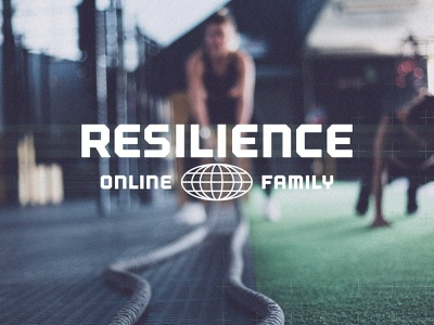 Resilience Fitness: Online Family Branding lettering design typography bootcamp gym toronto exercise vector fitness logo branding fitness workout