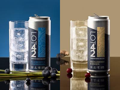 Lot 42 Premium Hard Seltzer drink design packaging alcohol typography branding logo
