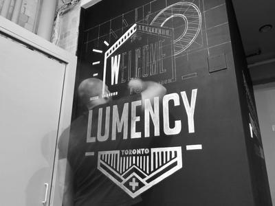 LUMENCY Chalk Mural