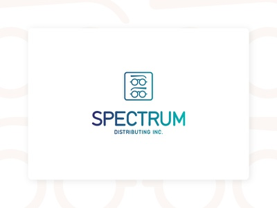 Spectrum Dist.Inc. icon frames eye glasses branding logo spectrum