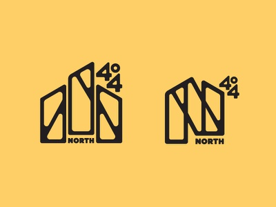 North404 lettering toronto wordmark icon four 4 n letter n brand logo north